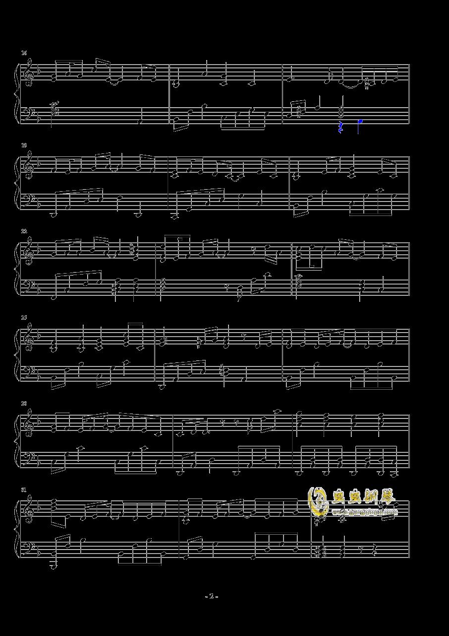 生命之源钢琴谱 第2页