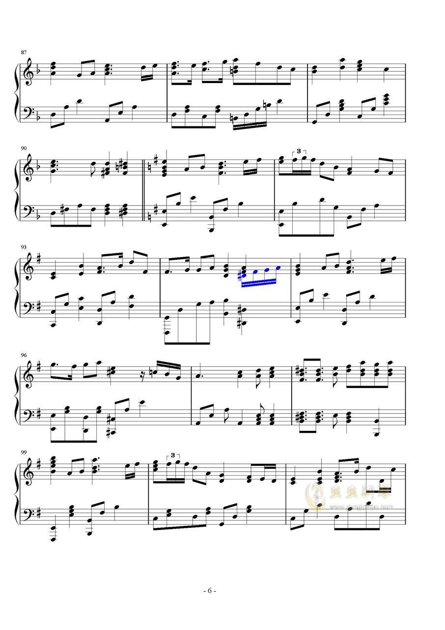 生命之源钢琴谱 第6页