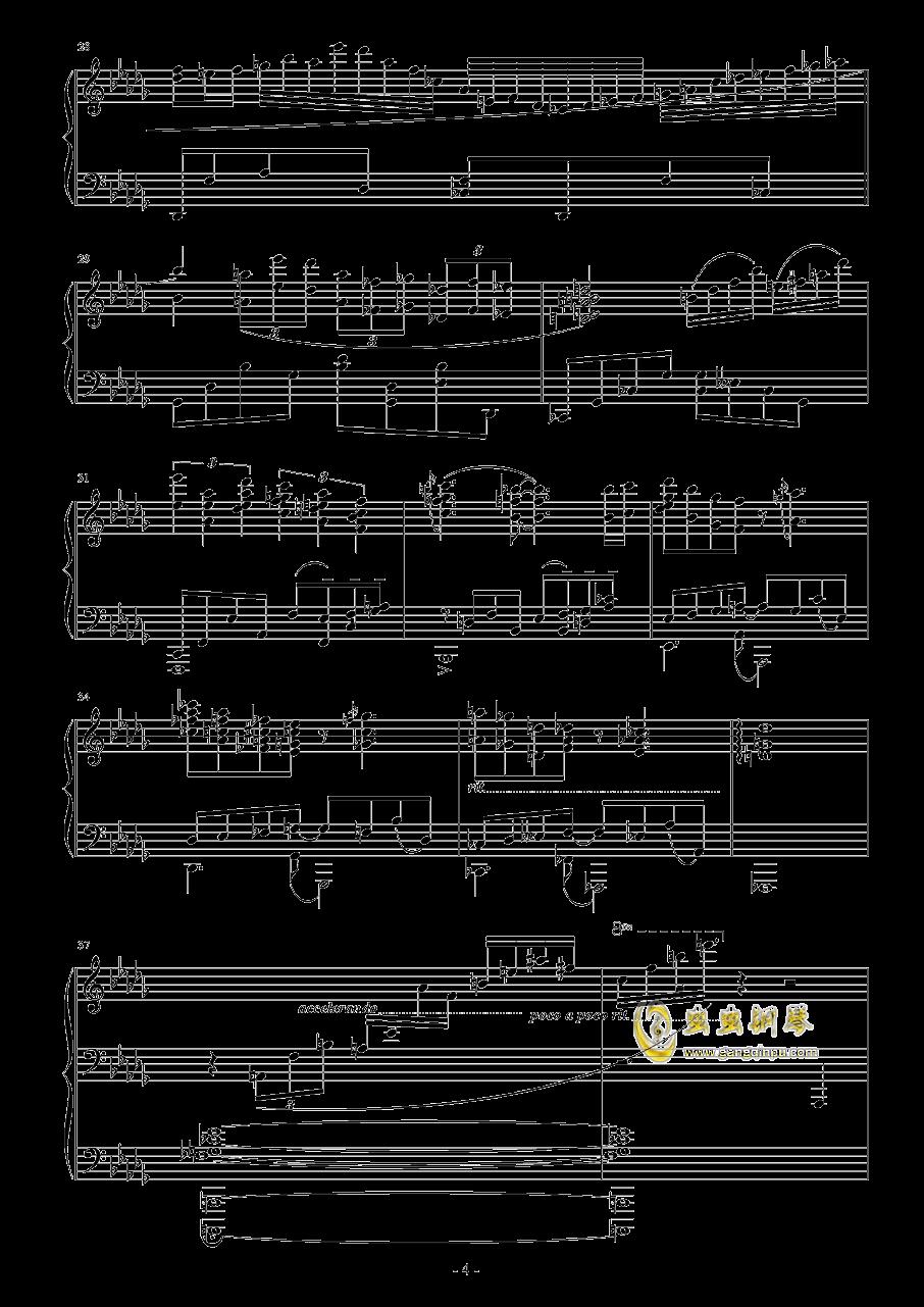 降D大调钢琴谱 第4页