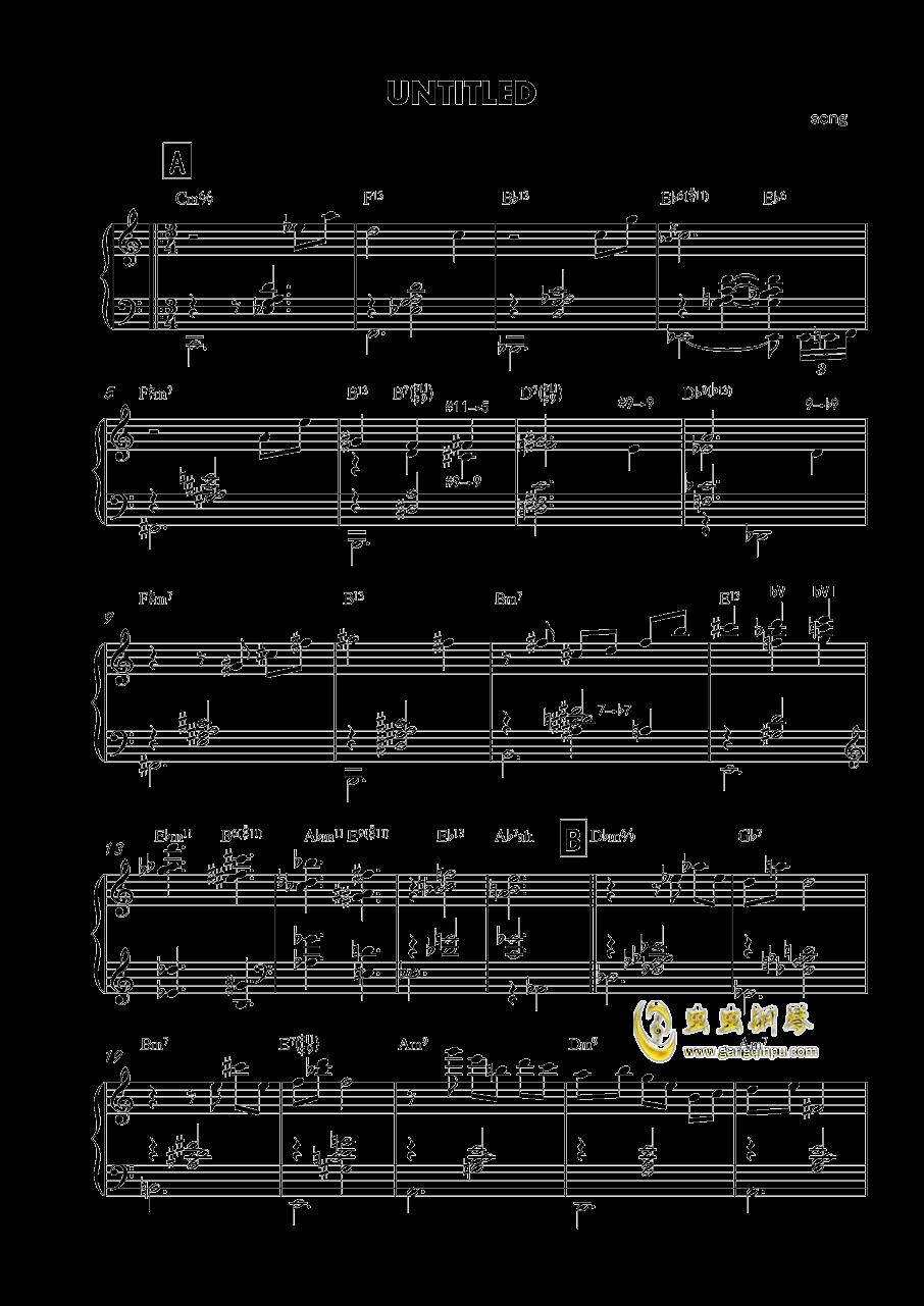 untitled钢琴谱 第1页