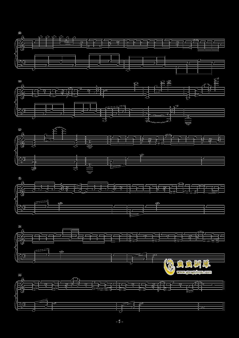 走马钢琴谱 第5页