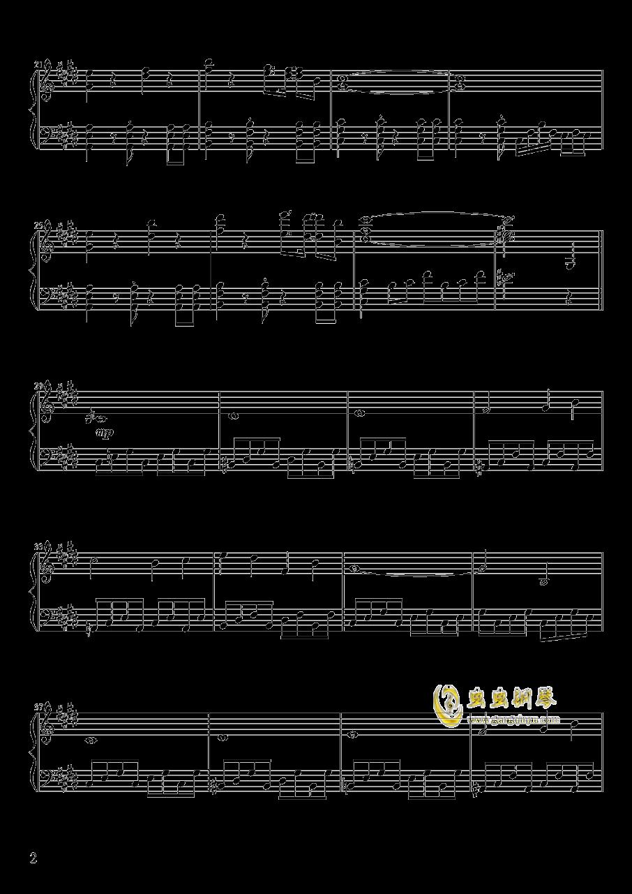 心の在�I钢琴谱 第2页