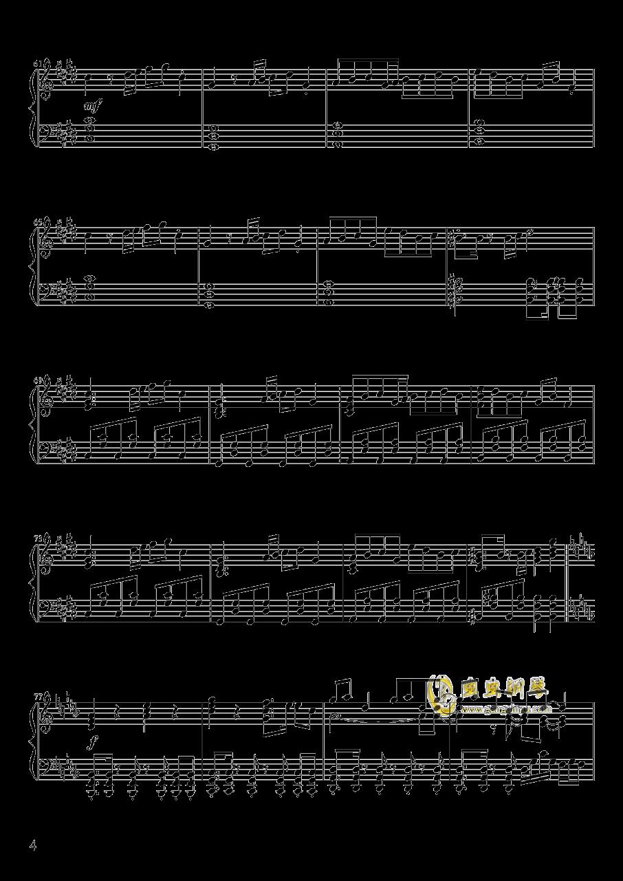 心の在�I钢琴谱 第4页