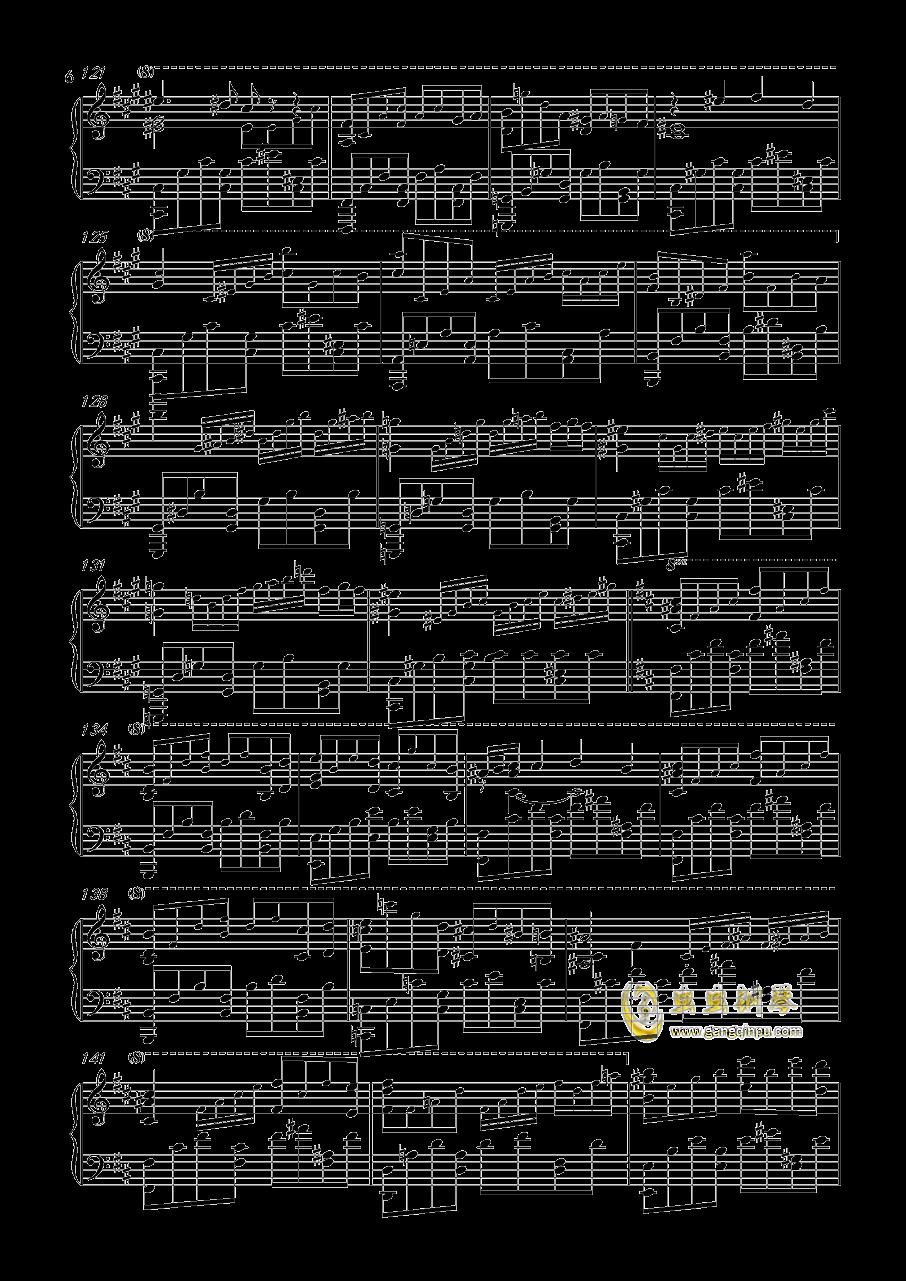钢琴谱 - 王者荣耀(简单带指法)