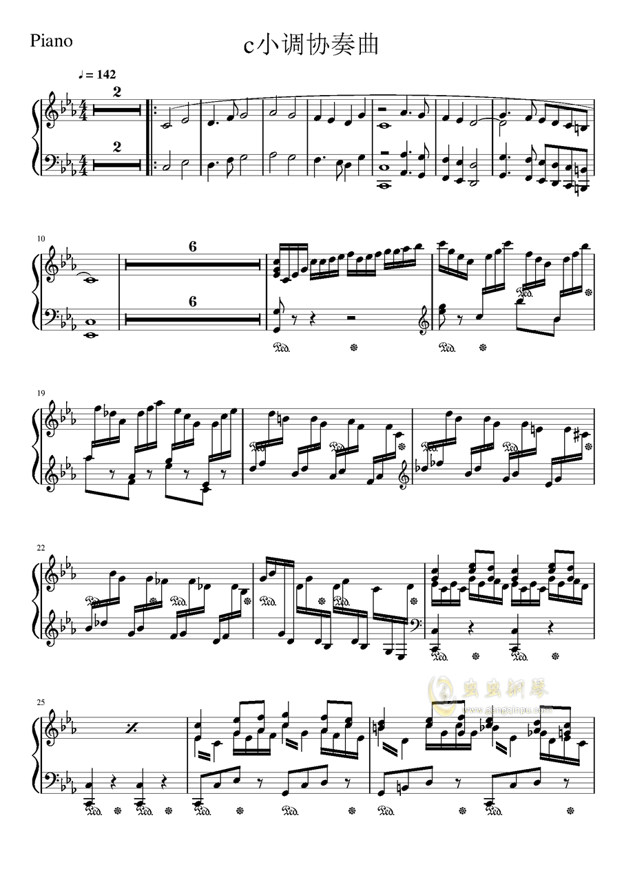 钢琴协奏曲第一乐章,钢琴协奏曲第一乐章钢琴谱,钢琴协奏曲第一图片