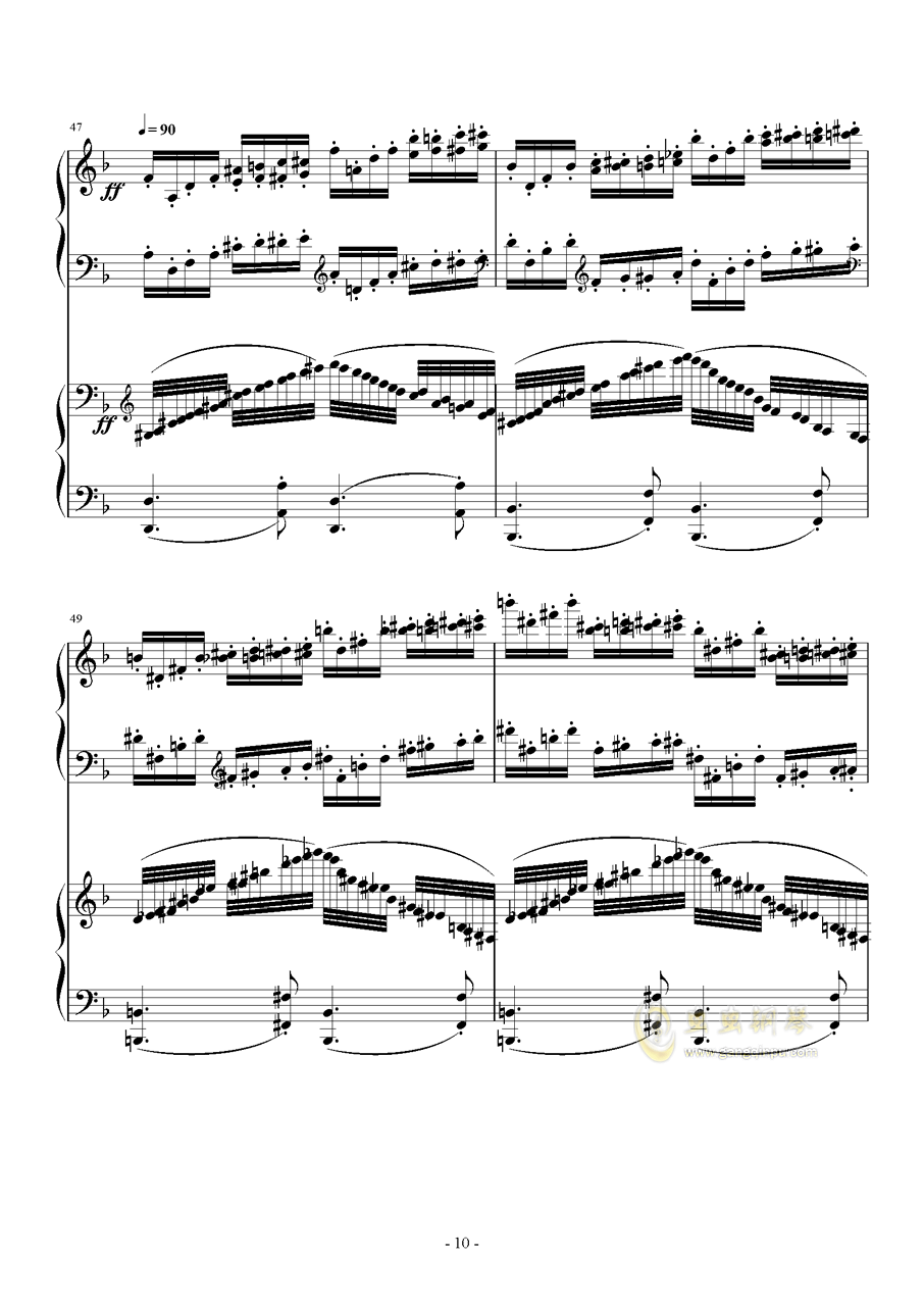 小温狂想曲 2.21钢琴谱 第10页