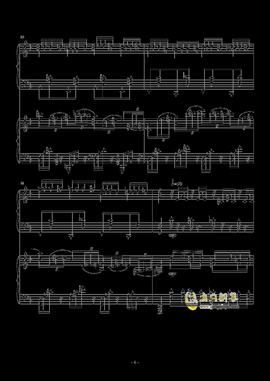 小温狂想曲 2.21钢琴谱 第4页