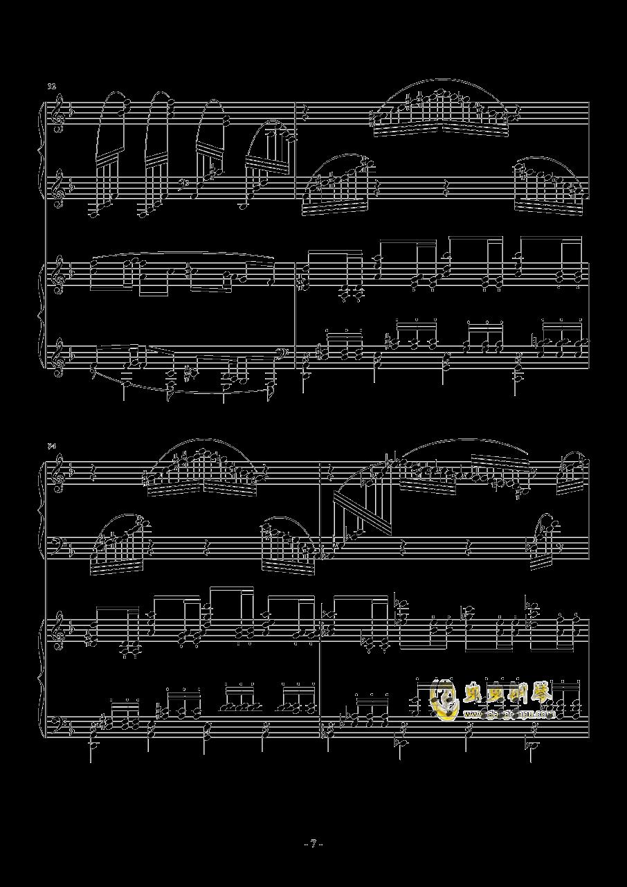 小温狂想曲 2.21钢琴谱 第7页