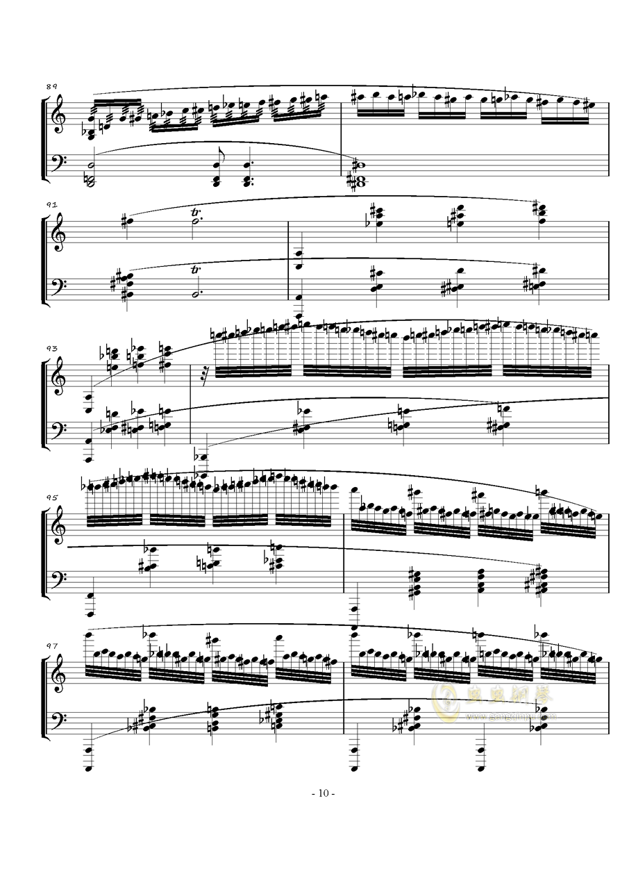 火星奏鸣曲-第一乐章钢琴谱 第10页