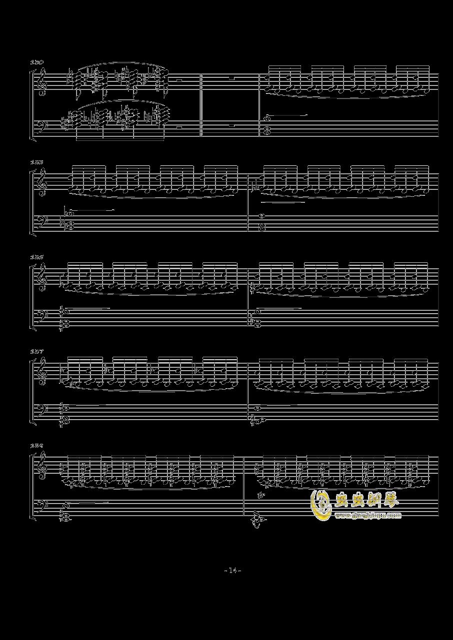 火星奏鸣曲-第一乐章钢琴谱 第14页
