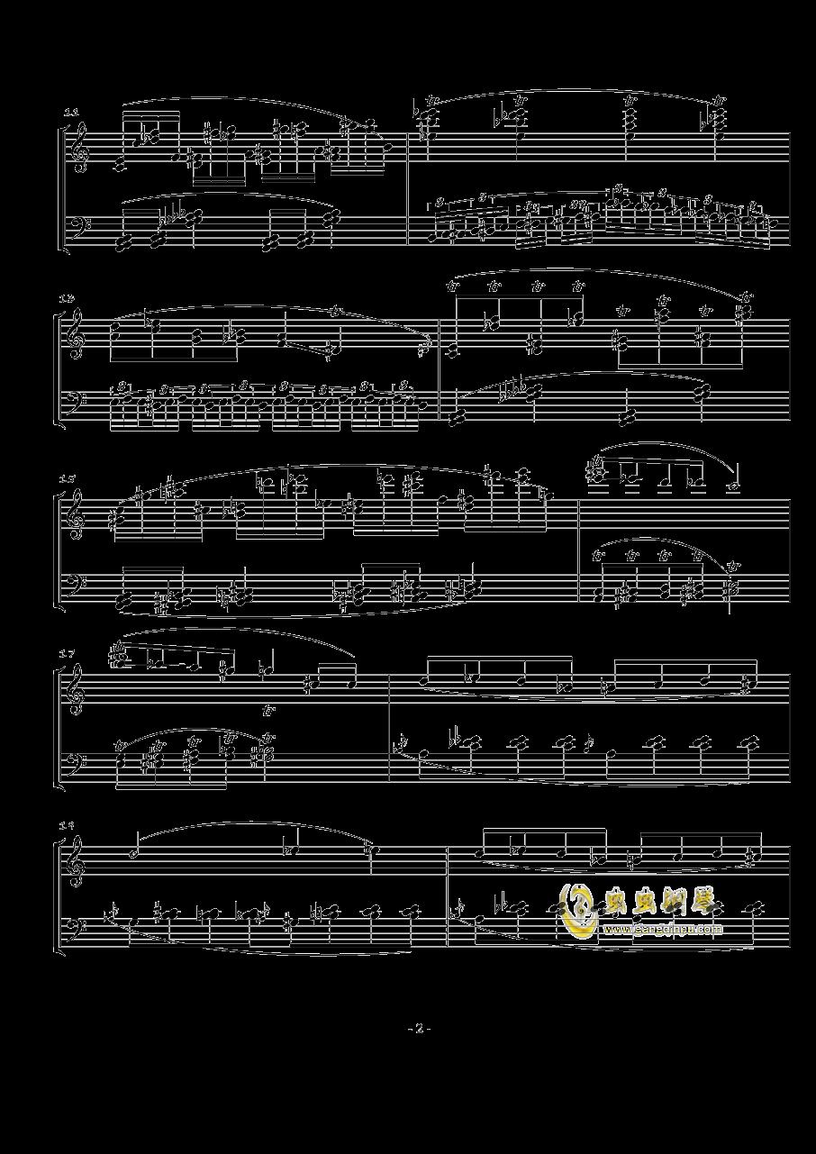 火星奏鸣曲-第一乐章钢琴谱 第2页