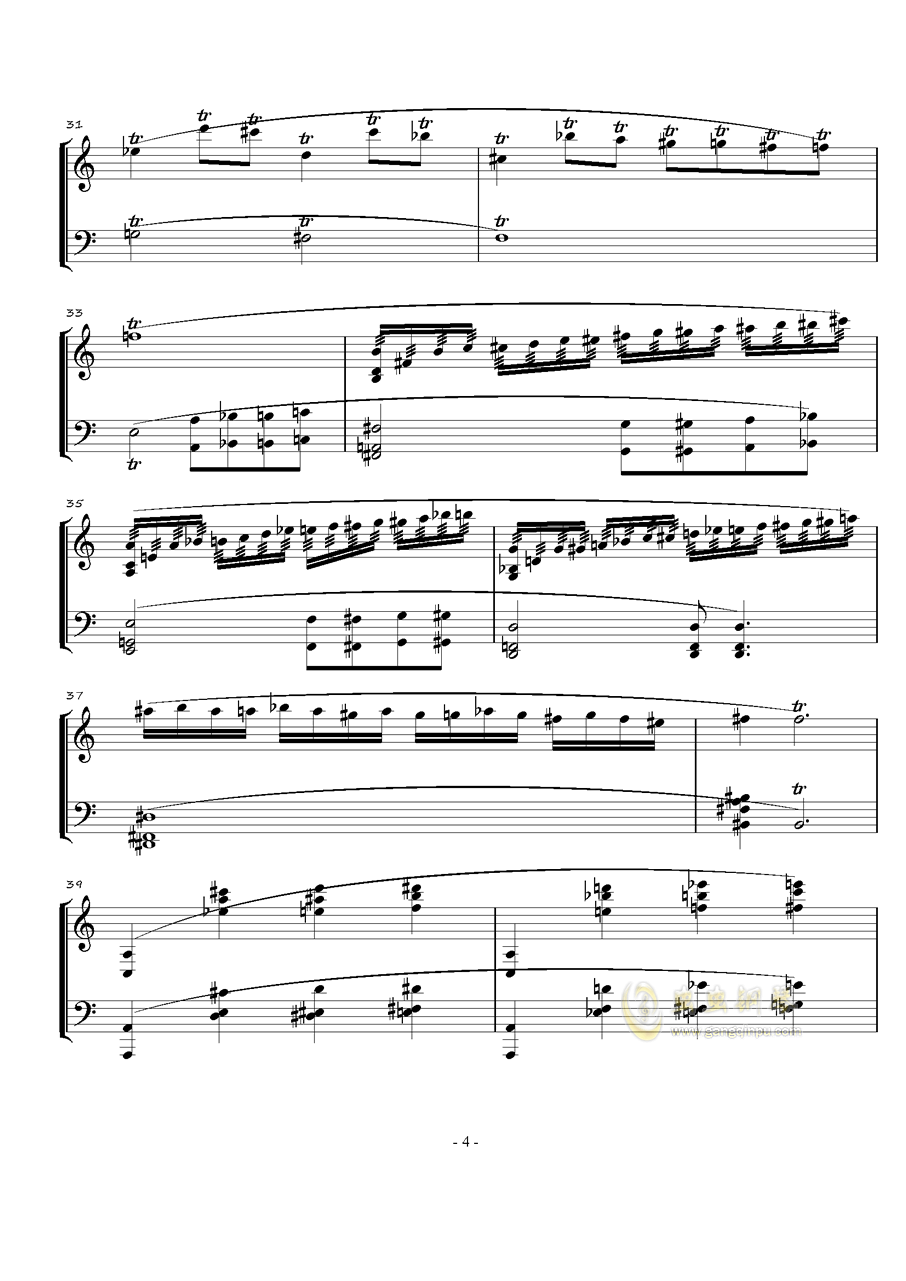火星奏鸣曲-第一乐章钢琴谱 第4页