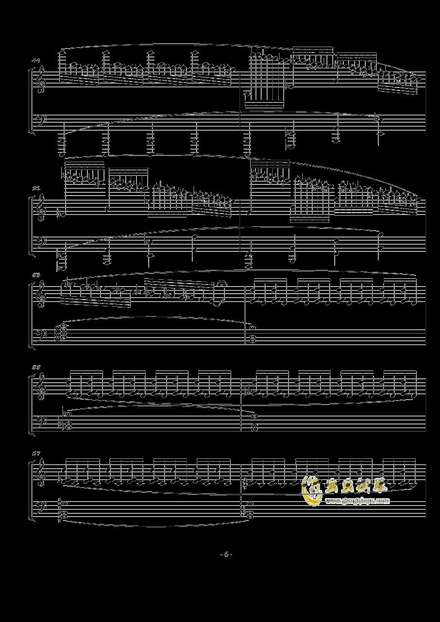 火星奏鸣曲-第一乐章钢琴谱 第6页