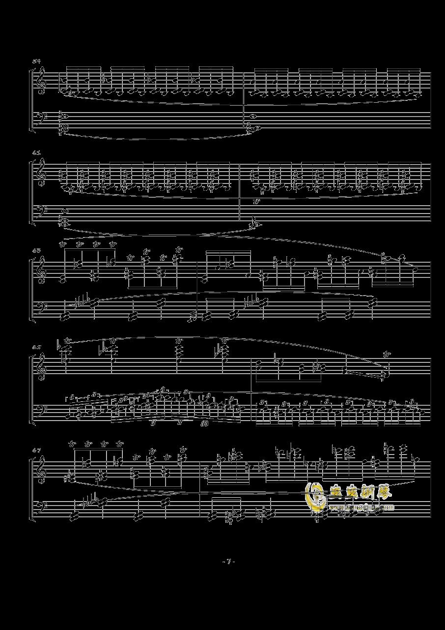 火星奏鸣曲-第一乐章钢琴谱 第7页
