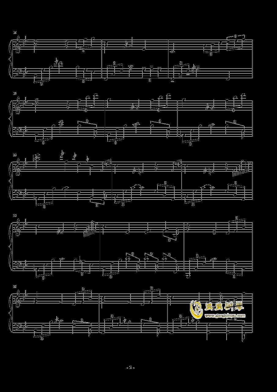 �中漫步钢琴谱 第2页