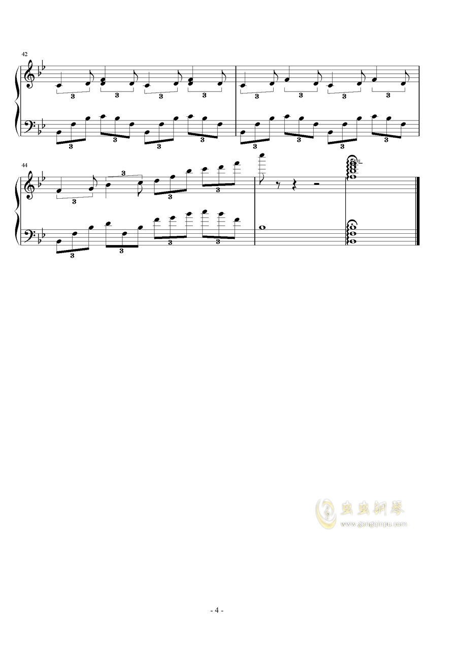 �中漫步钢琴谱 第4页
