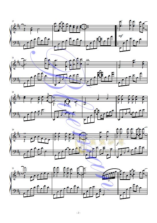 心雨钢琴谱 第2页