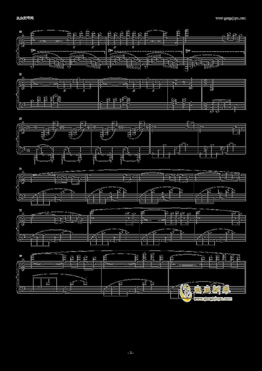 梦里的故事钢琴谱 第2页