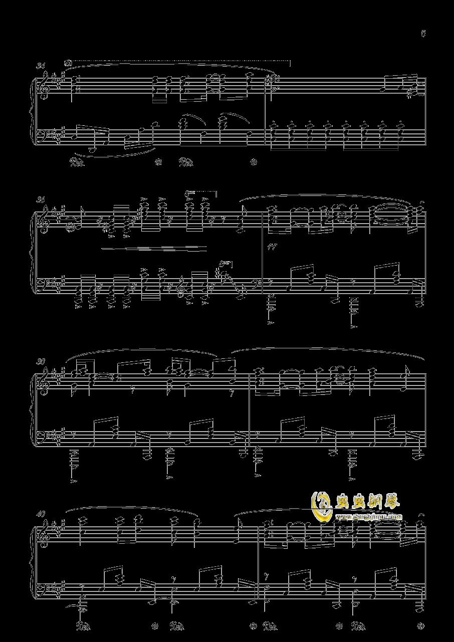 �S�@の扉钢琴谱 第5页