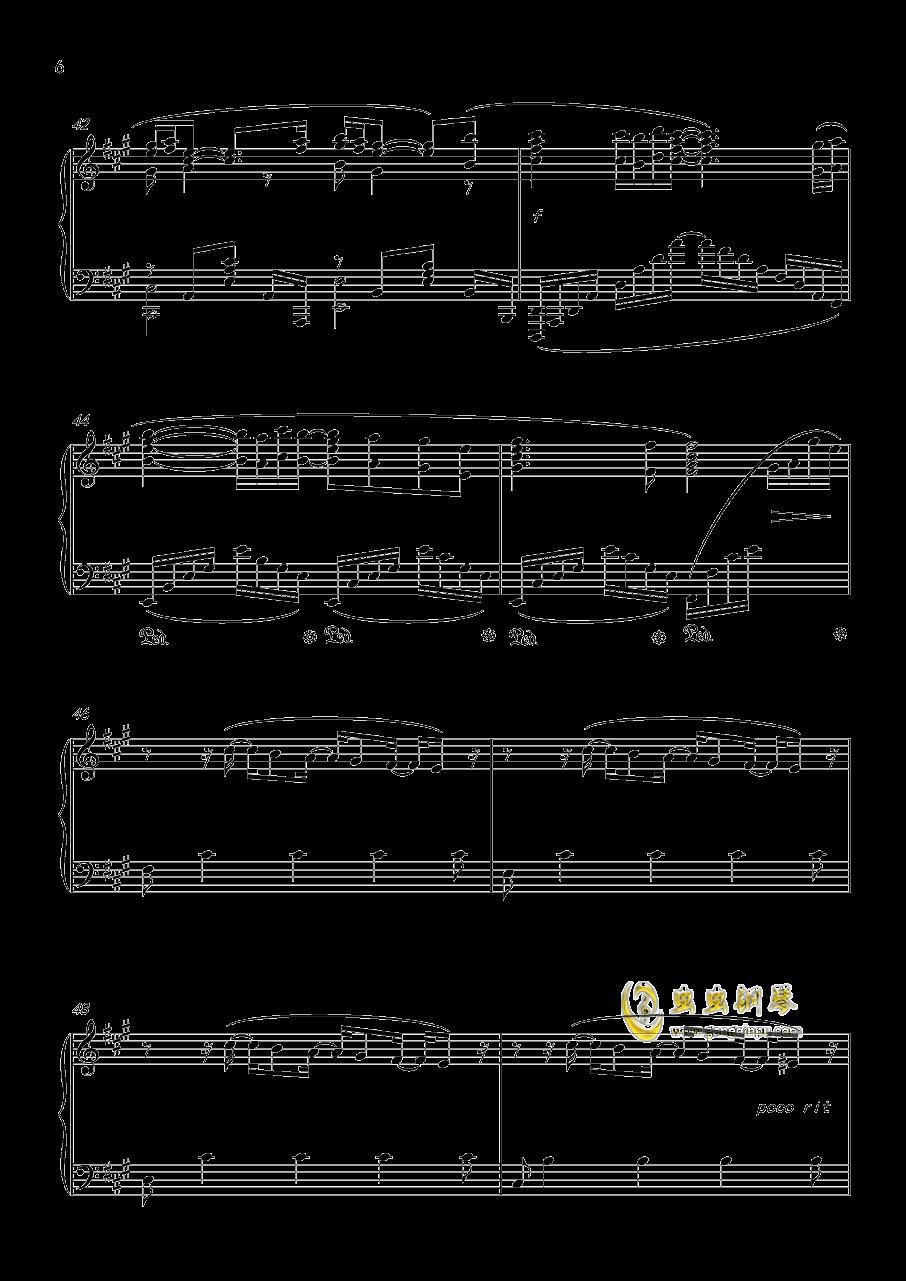 �S�@の扉钢琴谱 第6页