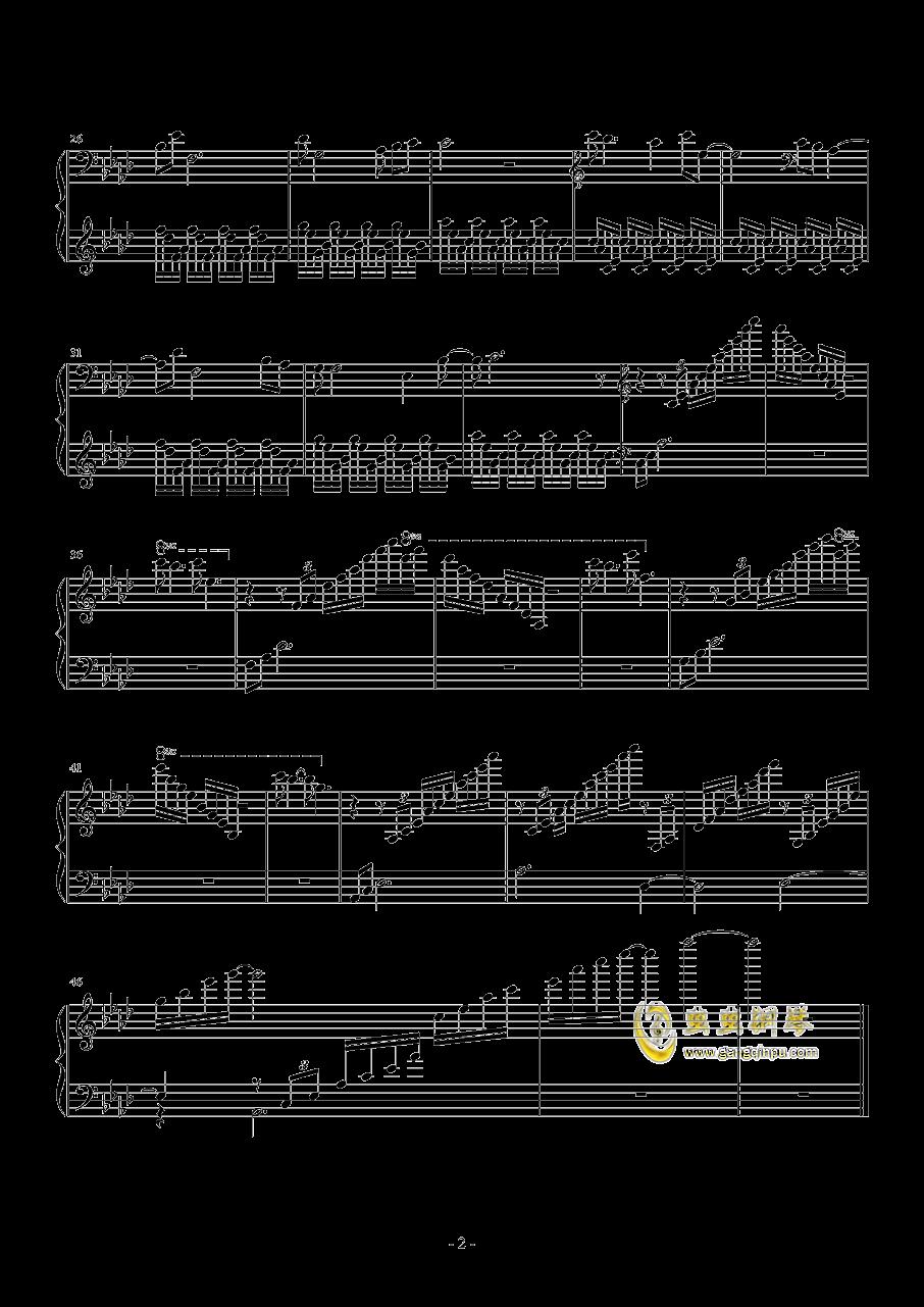 雨燕钢琴谱 第2页
