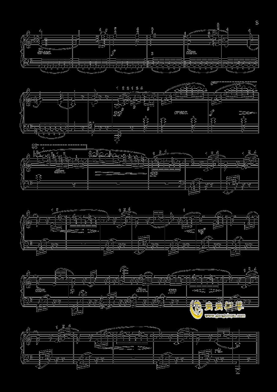 致爱丽丝钢琴谱 第3页