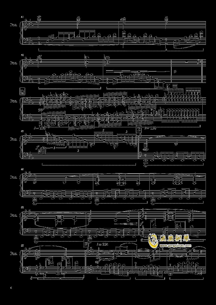刀剑神域 ~ Swordland钢琴谱 第4页