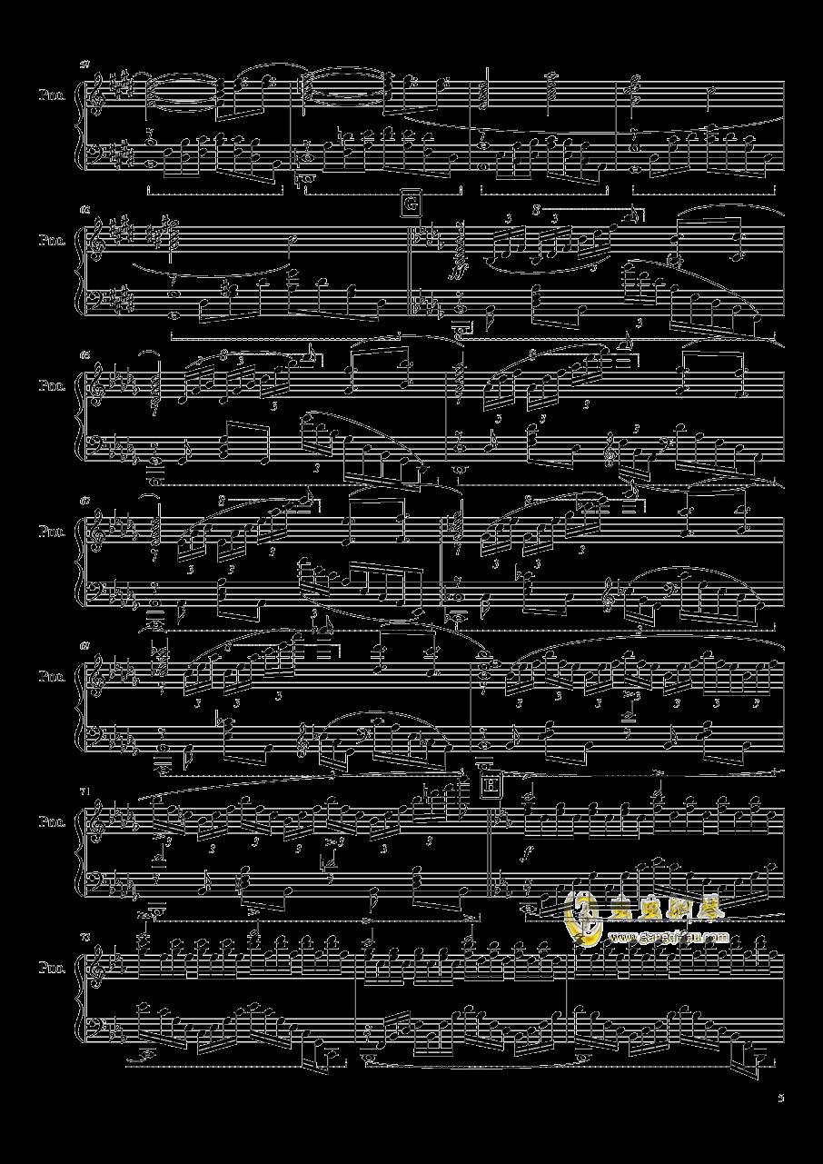 刀剑神域 ~ Swordland钢琴谱 第5页