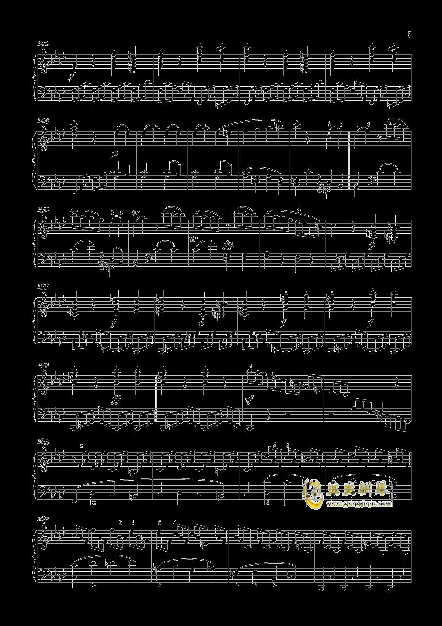 贝多芬-奏鸣曲钢琴谱 第5页