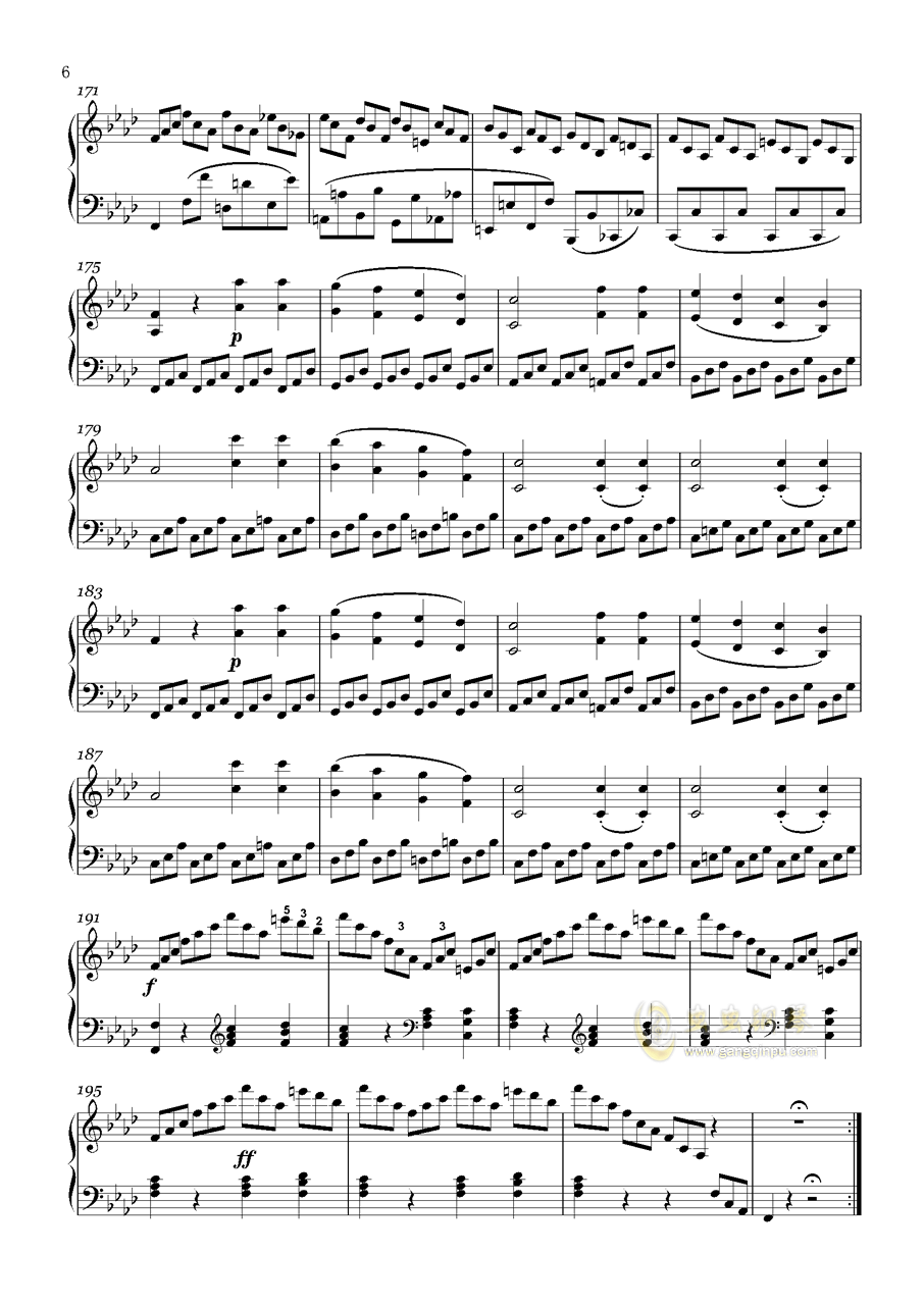 贝多芬-奏鸣曲钢琴谱 第6页