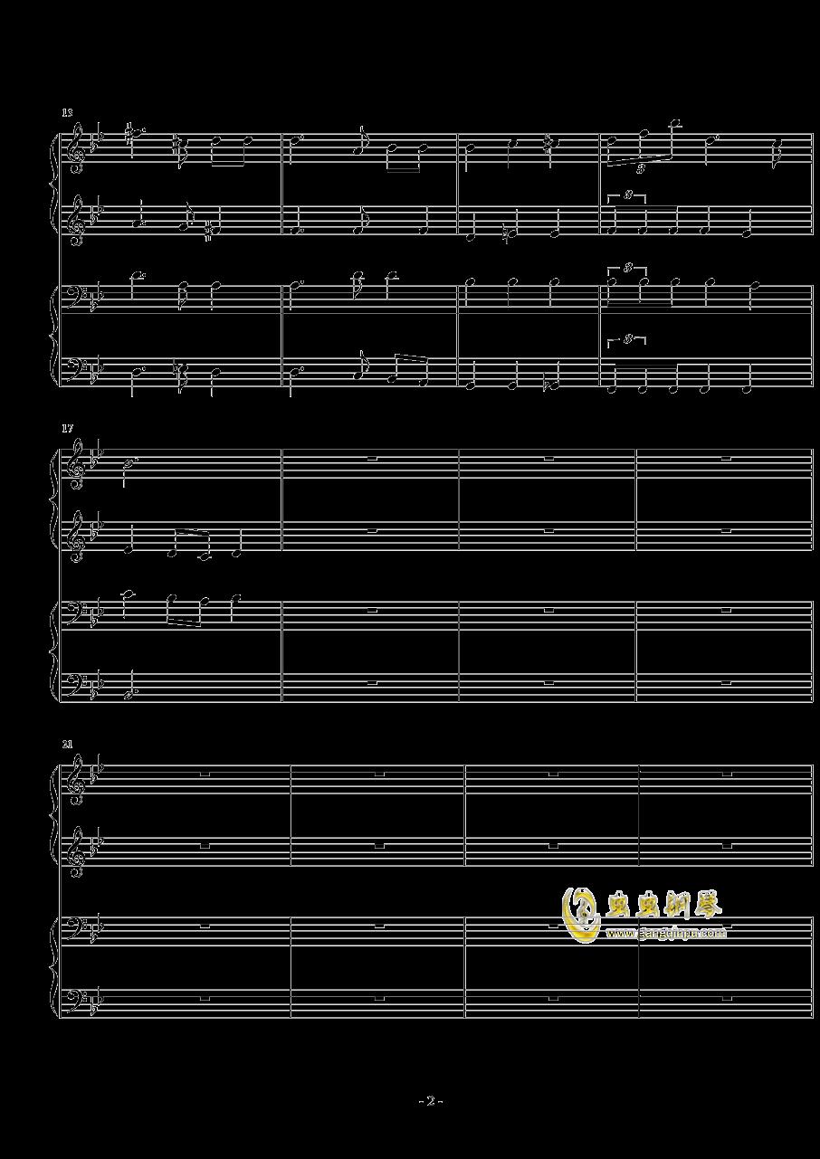 小合唱钢琴谱 第2页