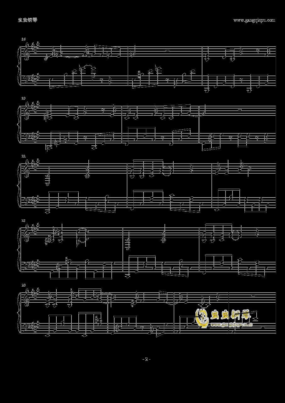 いちぬけ一人离去钢琴谱 第2页
