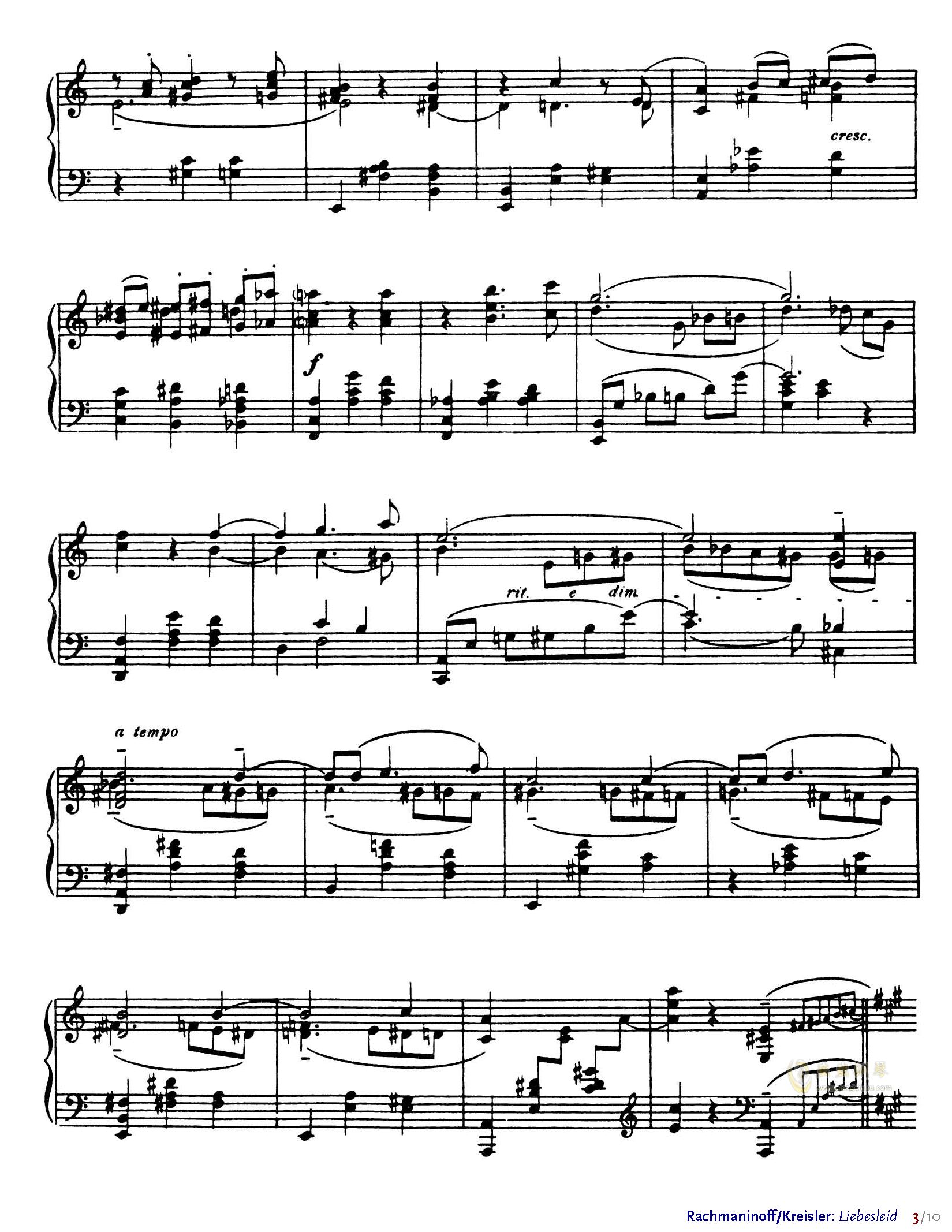 爱的忧伤钢琴谱 第3页