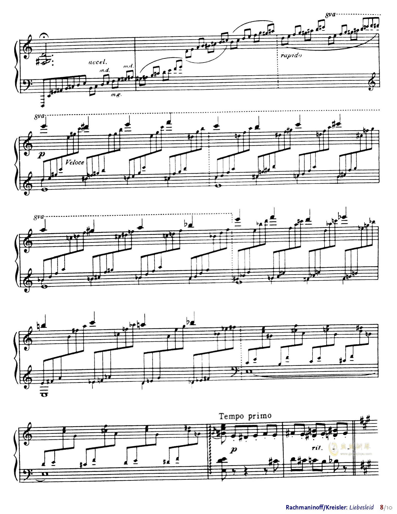 爱的忧伤钢琴谱 第8页