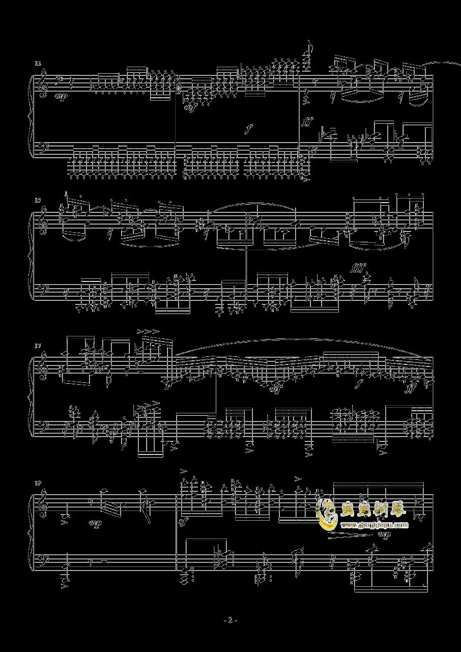 小温狂想曲钢琴谱 第2页