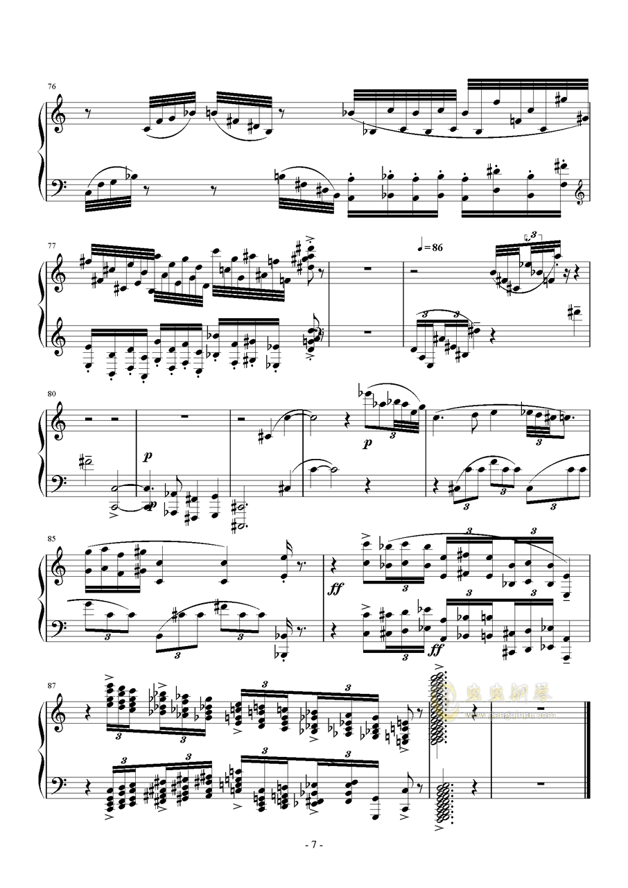 小温狂想曲钢琴谱 第7页