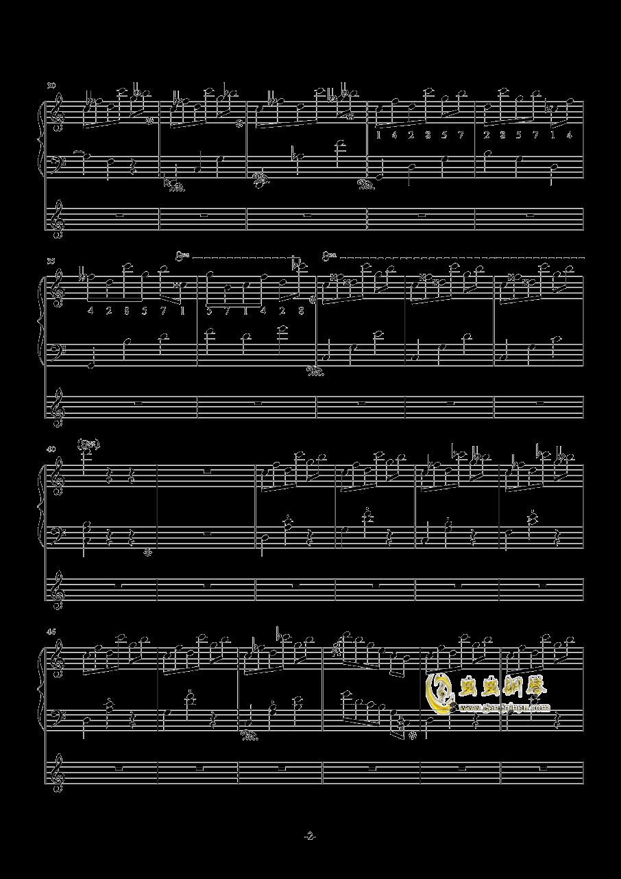 七分之一的幻想钢琴谱 第2页