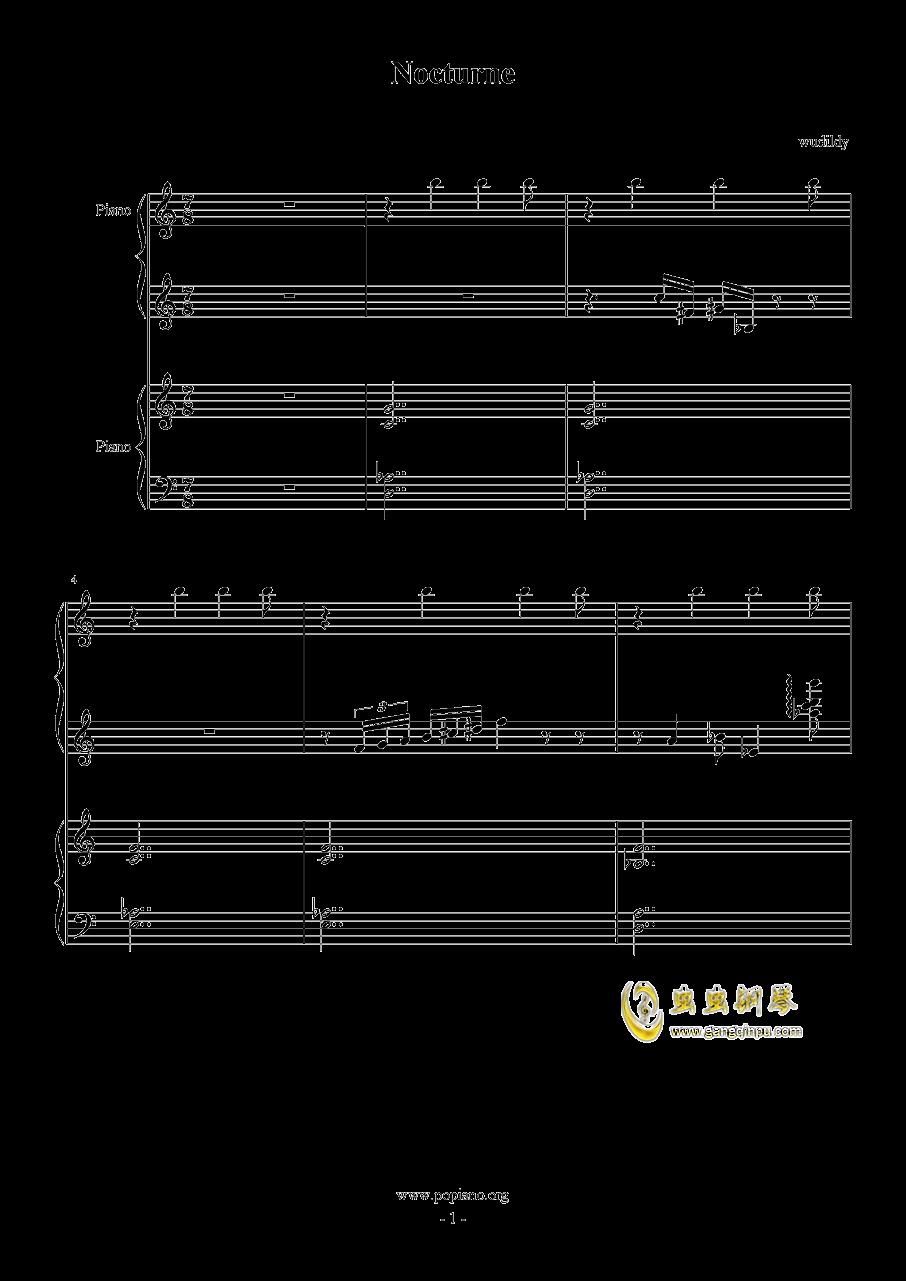 Nocturne钢琴谱 第1页