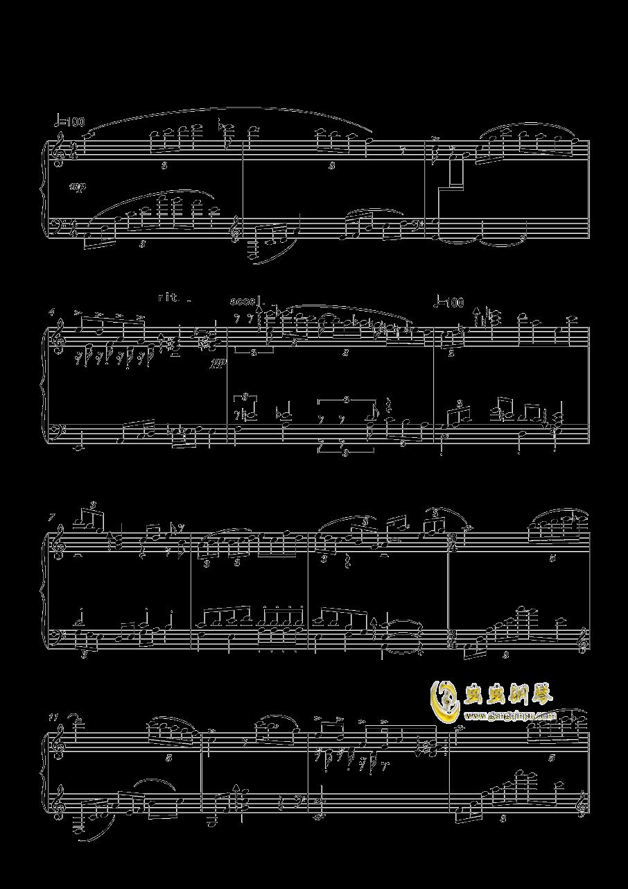 一只小小的变奏曲钢琴谱 第1页