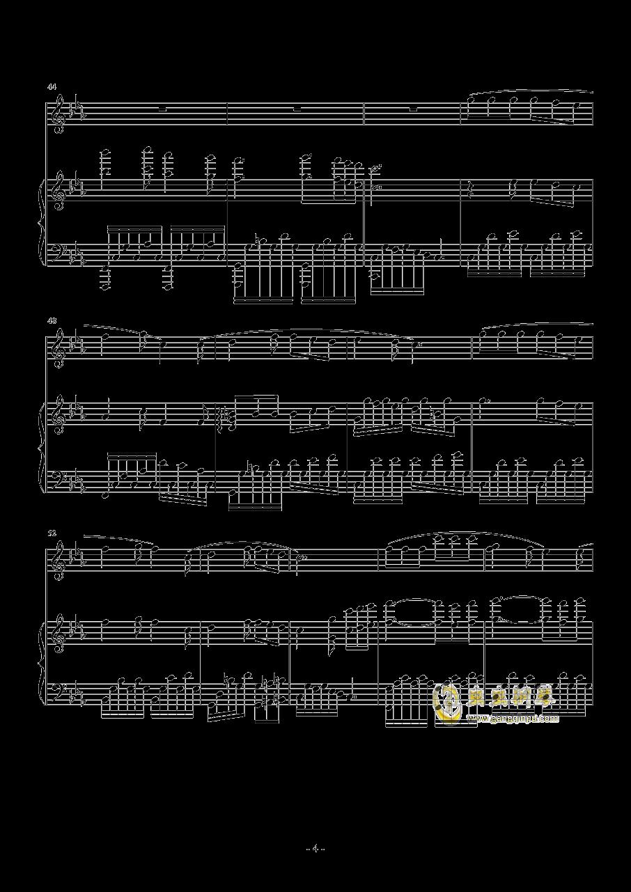 血娃娃钢琴谱 第4页