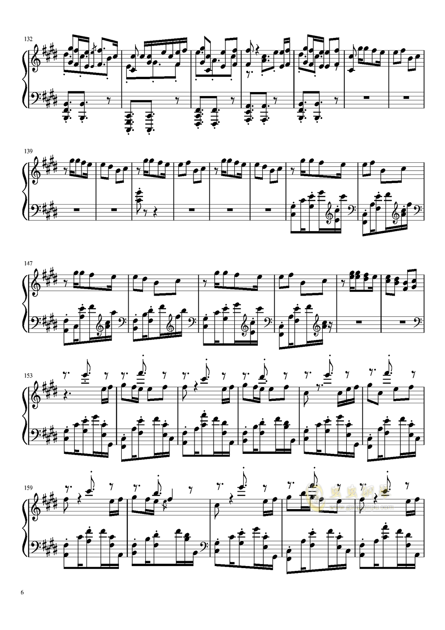 Shape of You钢琴谱 第6页