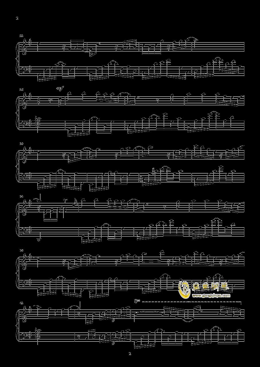 未至钢琴谱 第2页