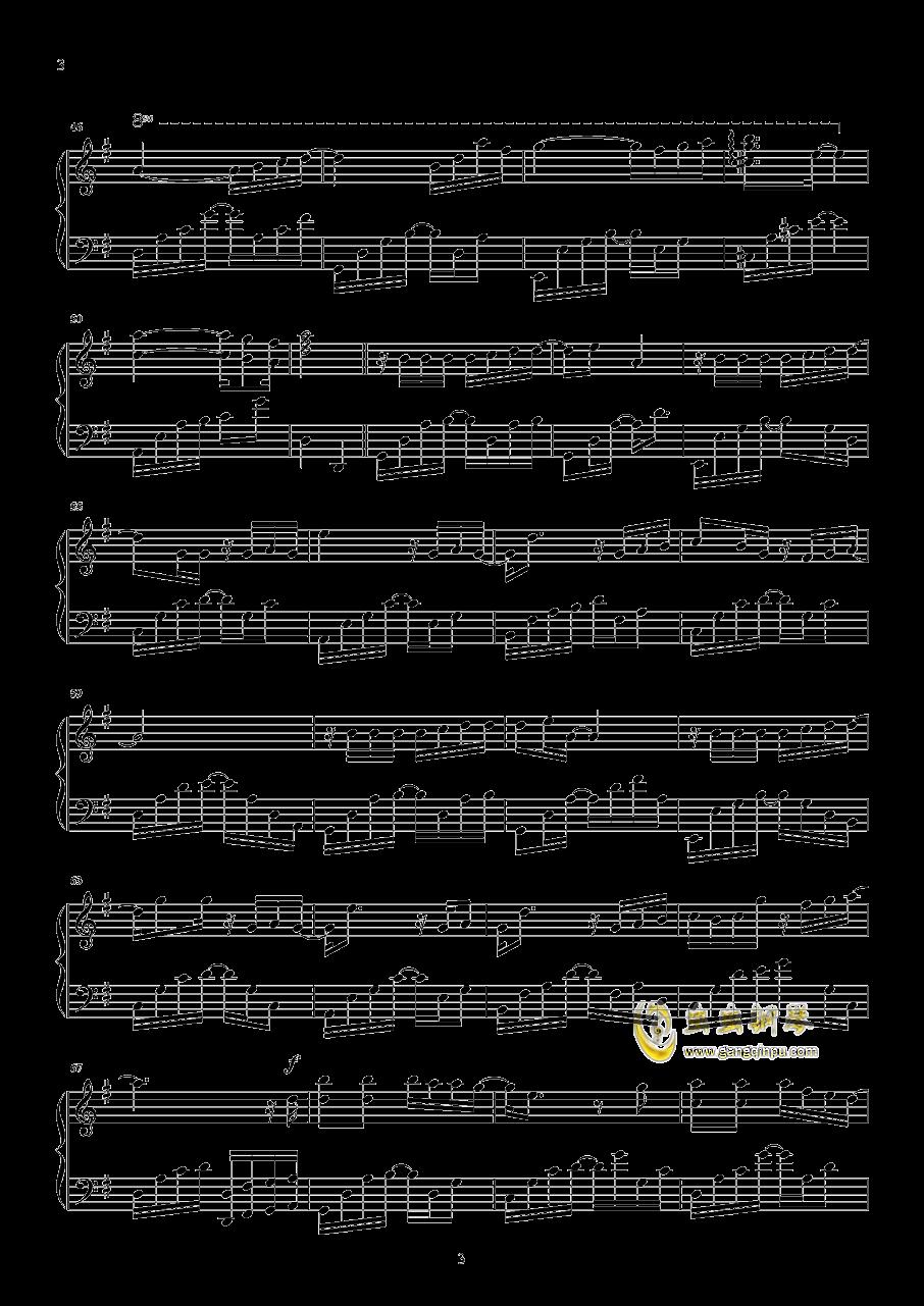 未至钢琴谱 第3页