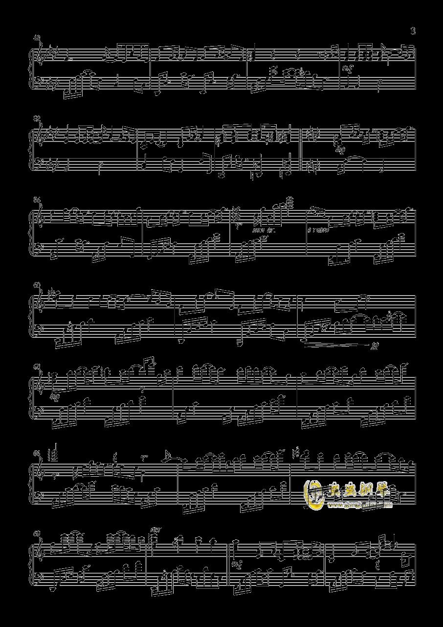 泪的声音钢琴谱 第3页