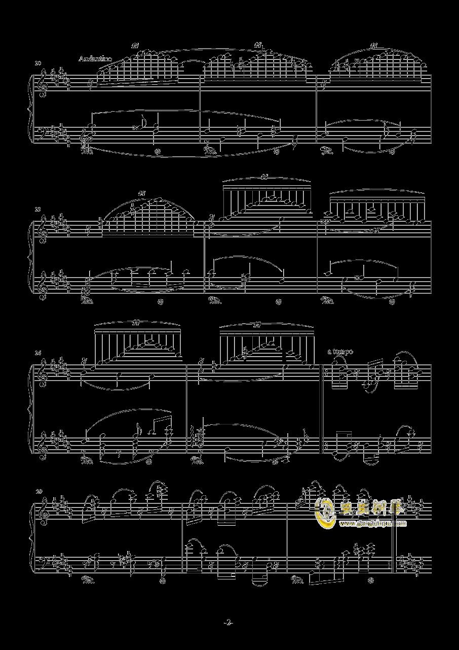 升C小调圆舞曲钢琴谱 第2页