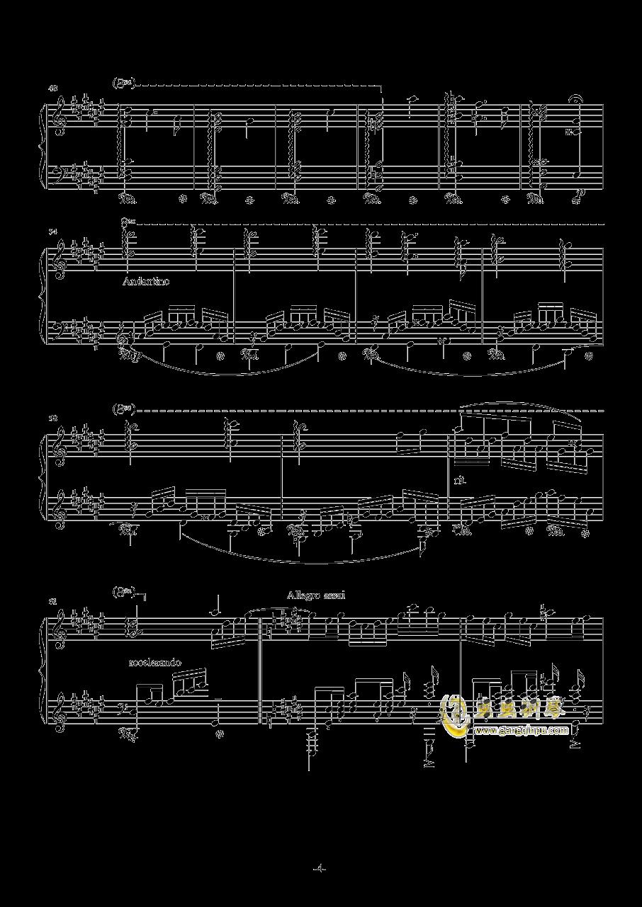 升C小调圆舞曲钢琴谱 第4页