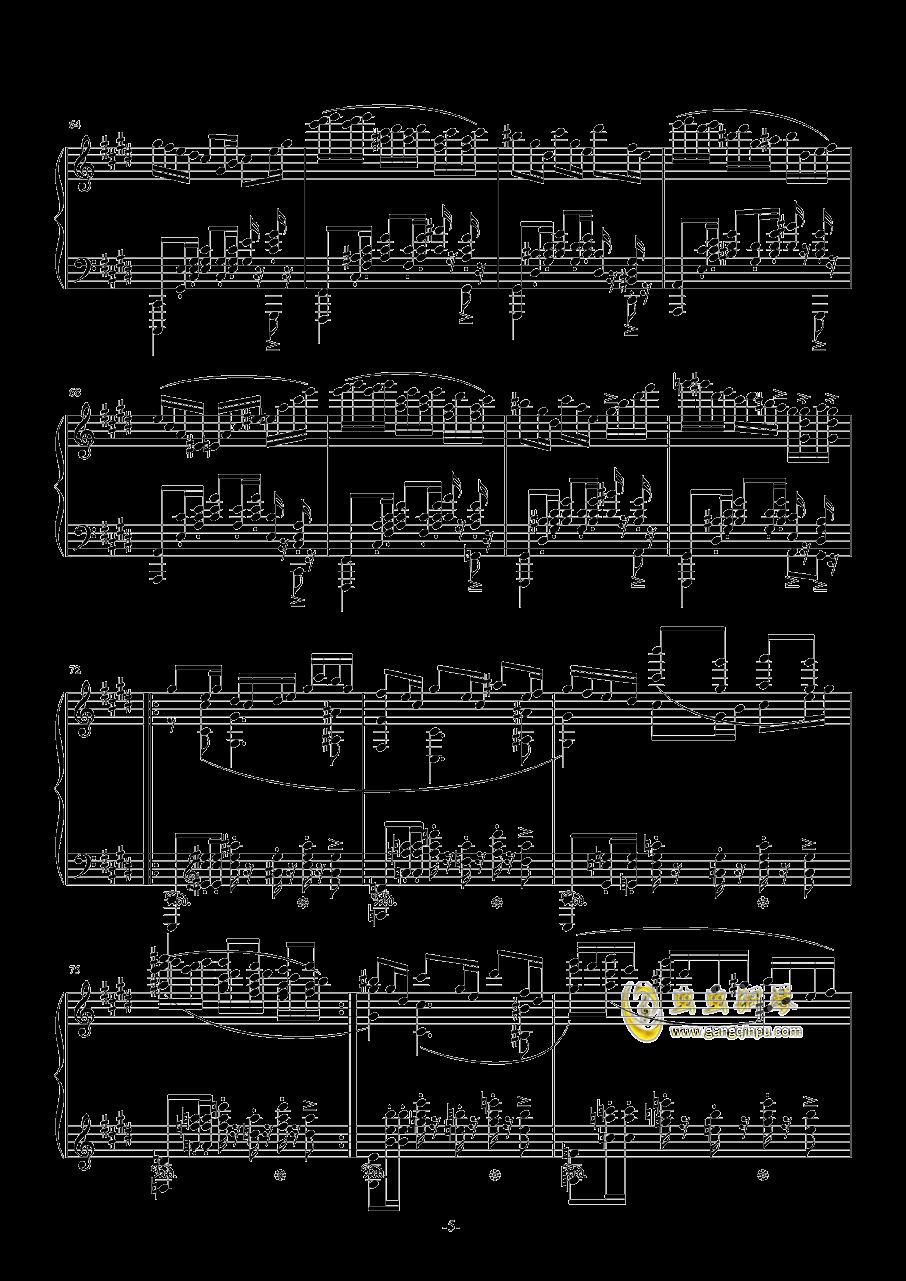 升C小调圆舞曲钢琴谱 第5页