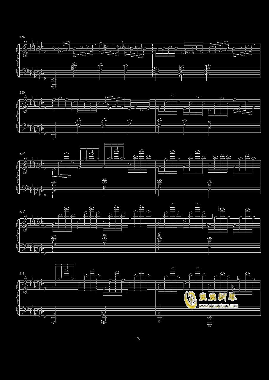 火星音阶练习曲Op.2 No.1钢琴谱 第2页