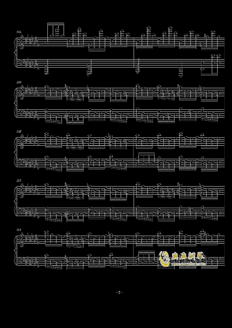 火星音阶练习曲Op.2 No.1钢琴谱 第3页