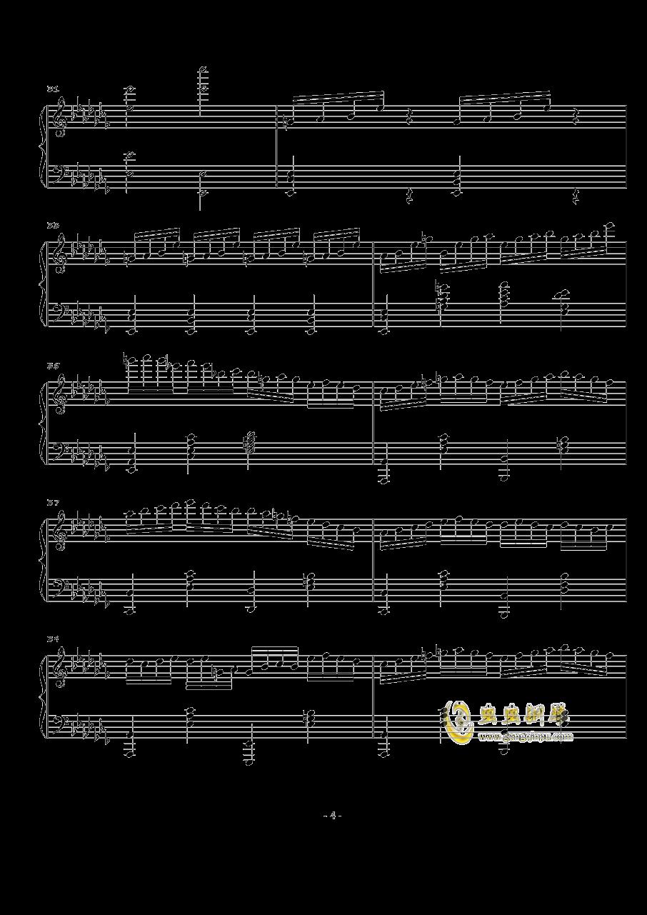 火星音阶练习曲Op.2 No.1钢琴谱 第4页